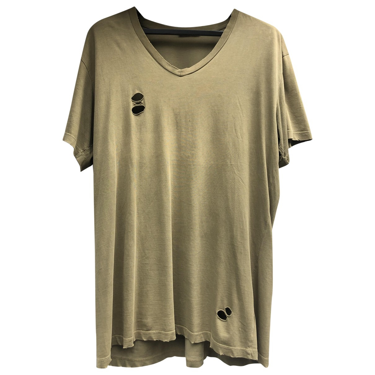 Balmain - Tee shirts   pour homme en coton - kaki