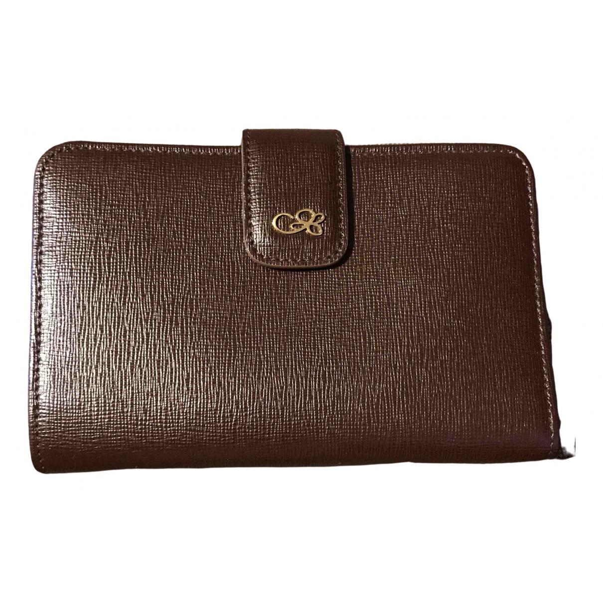 Cruciani - Portefeuille   pour femme en cuir - marron