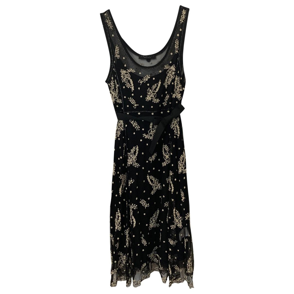 Twin Set - Robe   pour femme en dentelle - noir