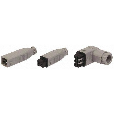 Hirschmann , ST Cable Mount Industrial Power Plug, Rated At 10.0A, 250.0 V, 400.0 V