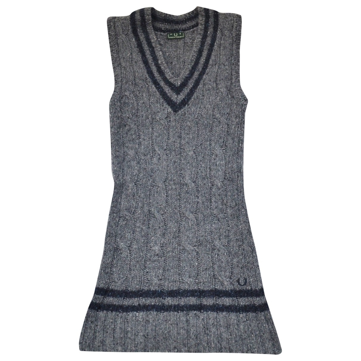 Fred Perry \N Pullover in  Grau Wolle