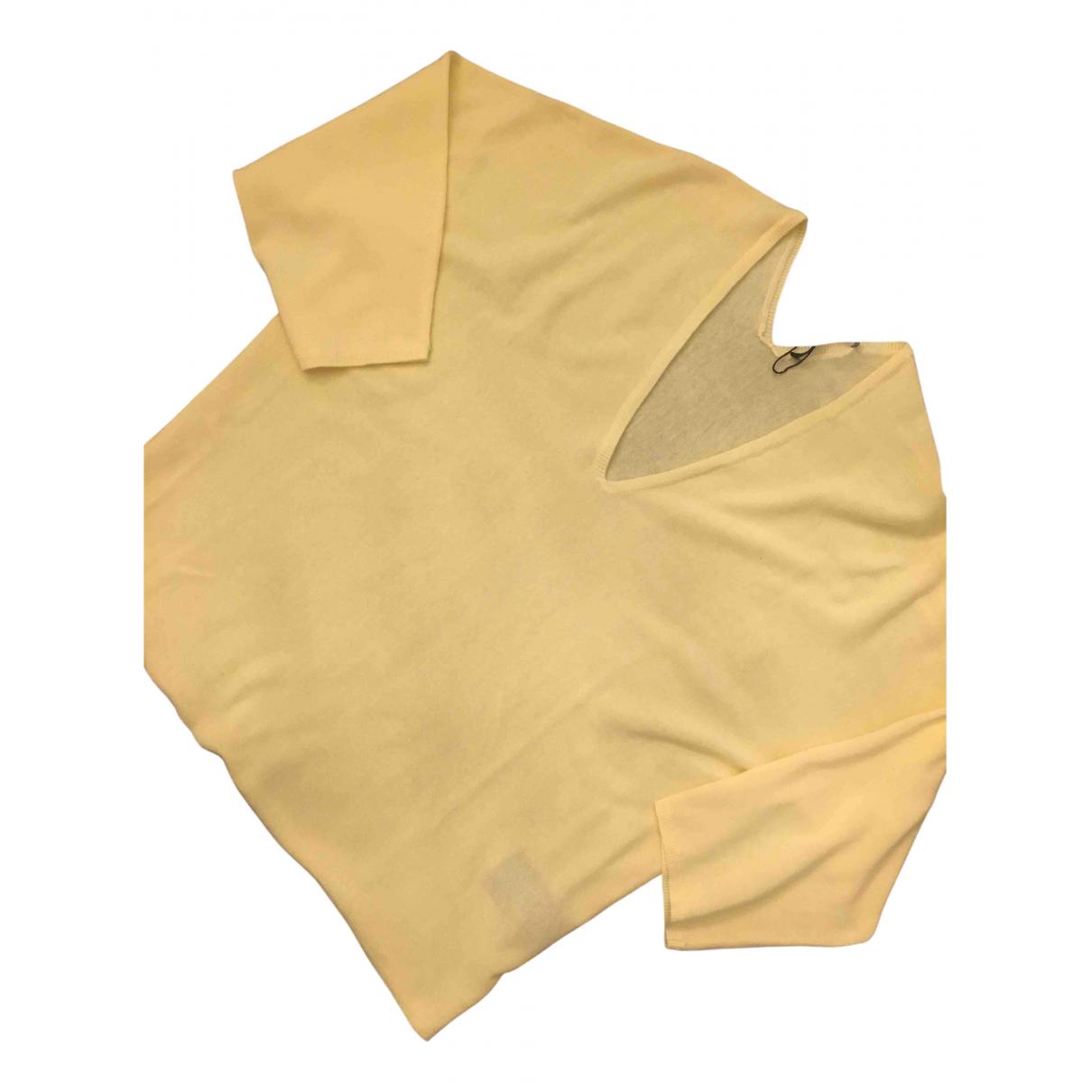 Set - Pull   pour femme en coton - jaune