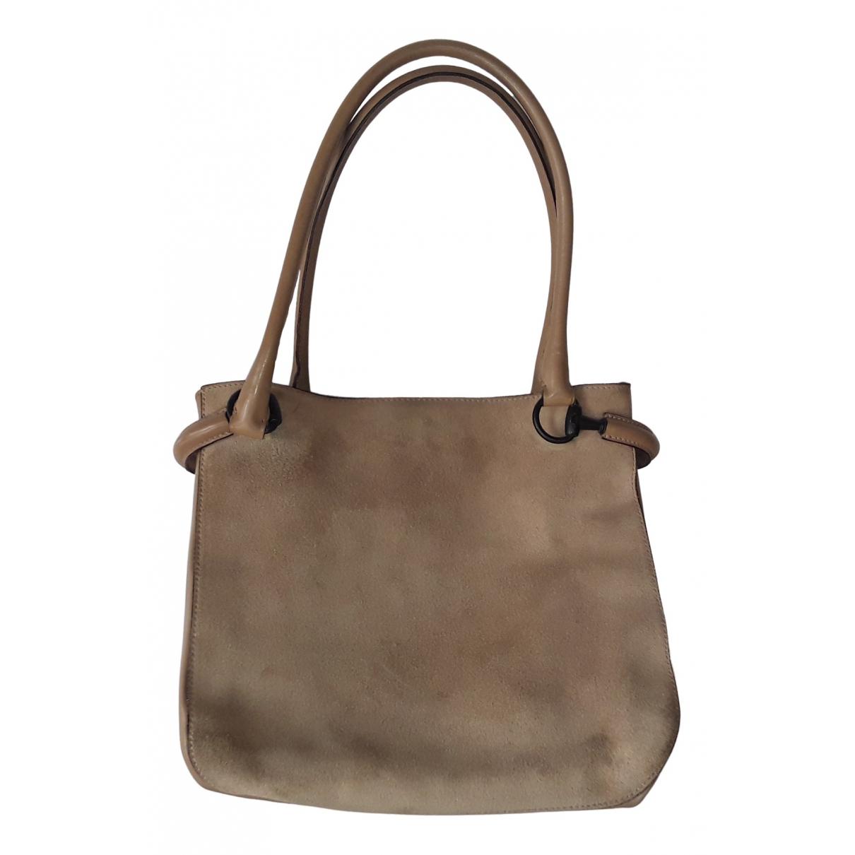 Gucci \N Handtasche in  Grau Veloursleder