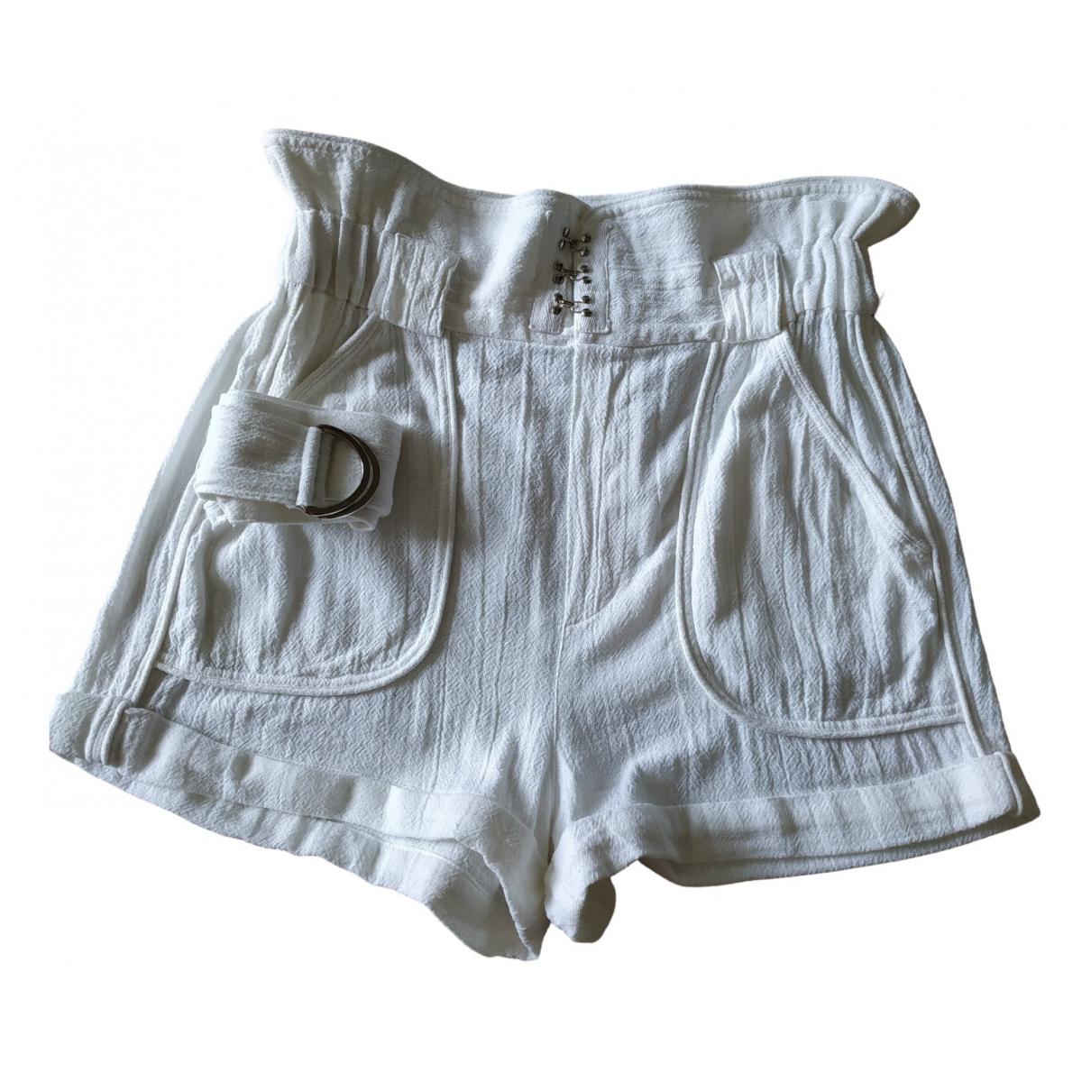 Iro Spring Summer 2019 Shorts in  Ecru Baumwolle
