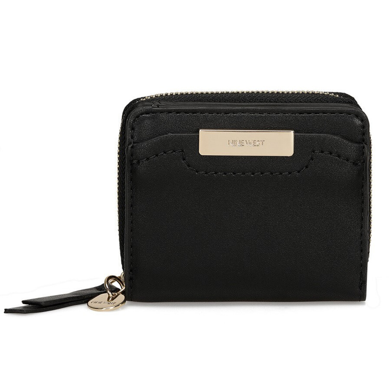 Nine West Womens Kennedy Small Zip Around Wallet - Black