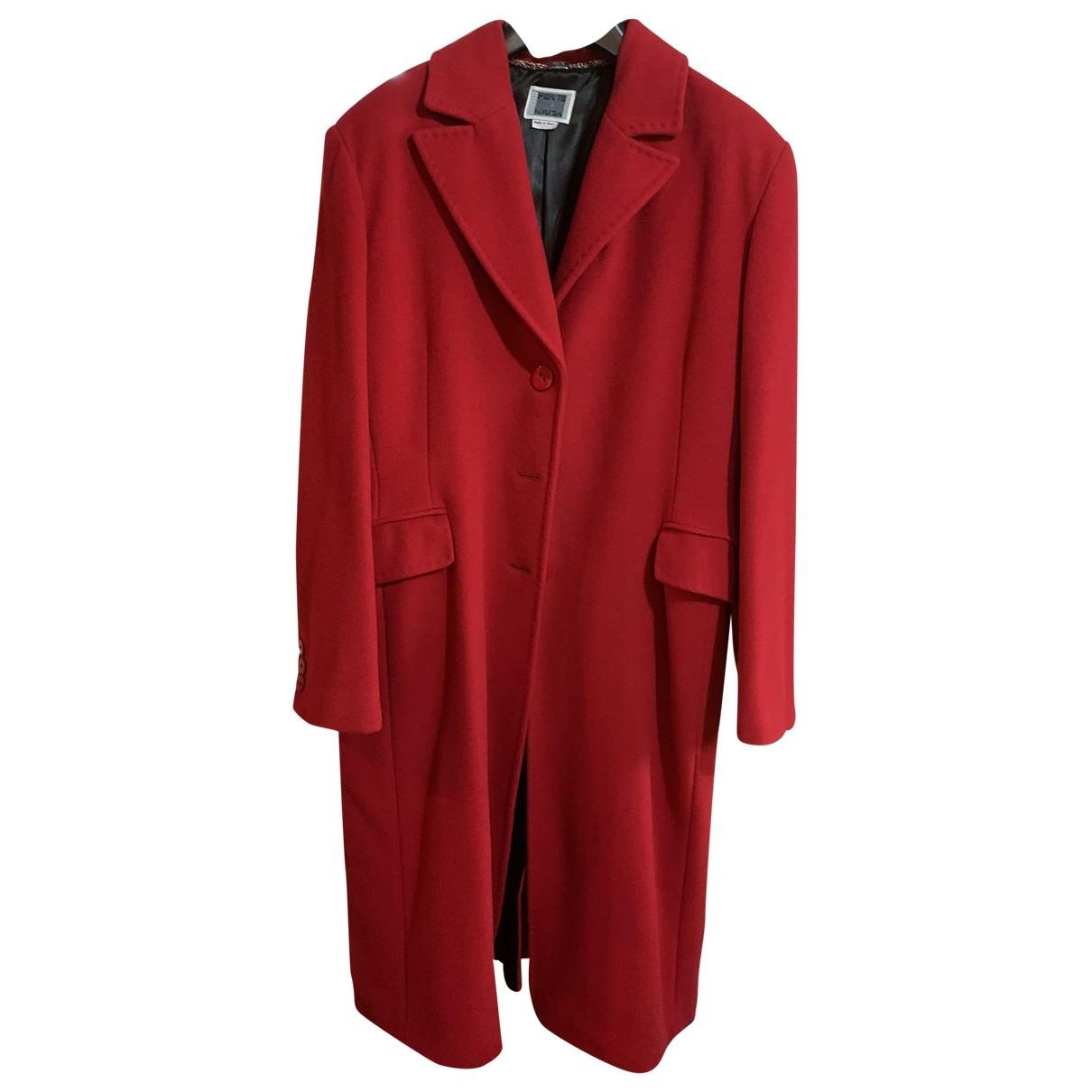 Krizia \N Maentel in  Rot Wolle