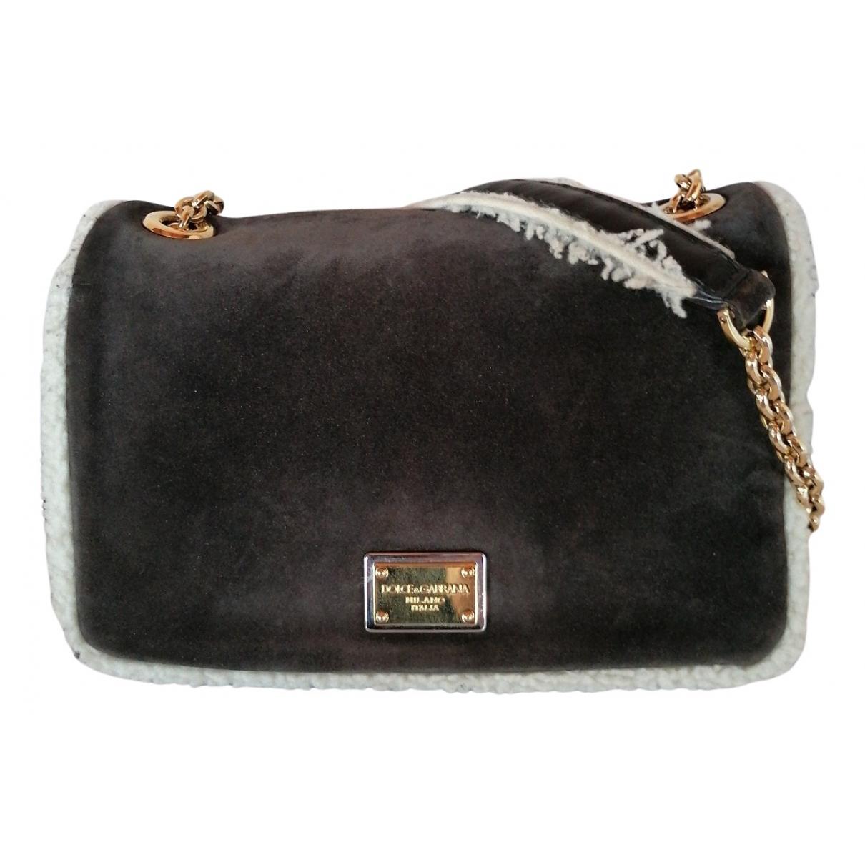 Bolsos clutch en Ante Antracita Dolce & Gabbana