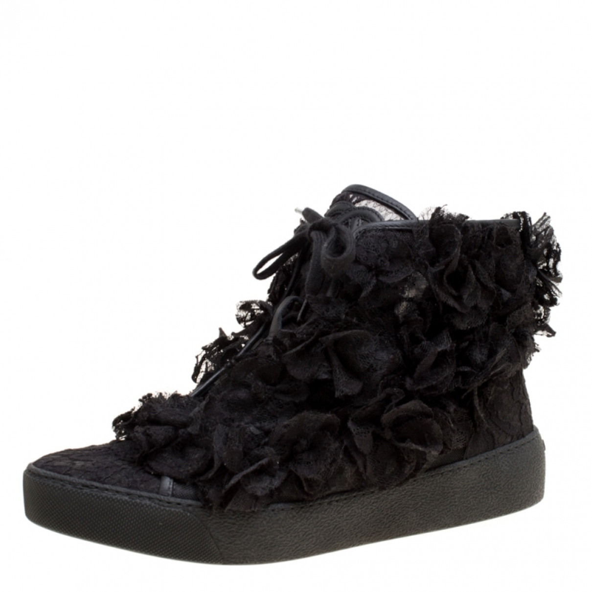 Chanel \N Black Leather Trainers for Women 6.5 US