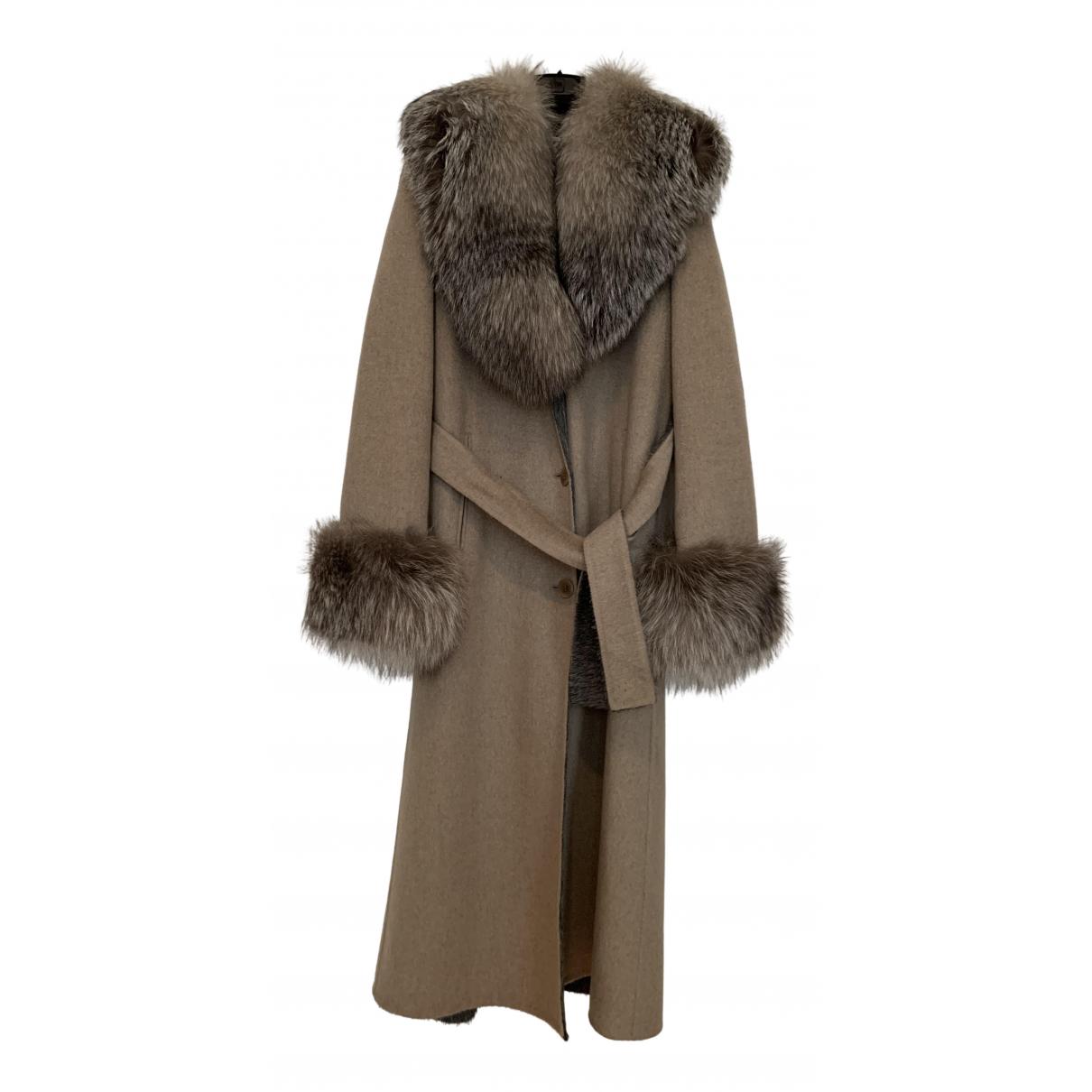 Colombo - Manteau   pour femme en cachemire - beige