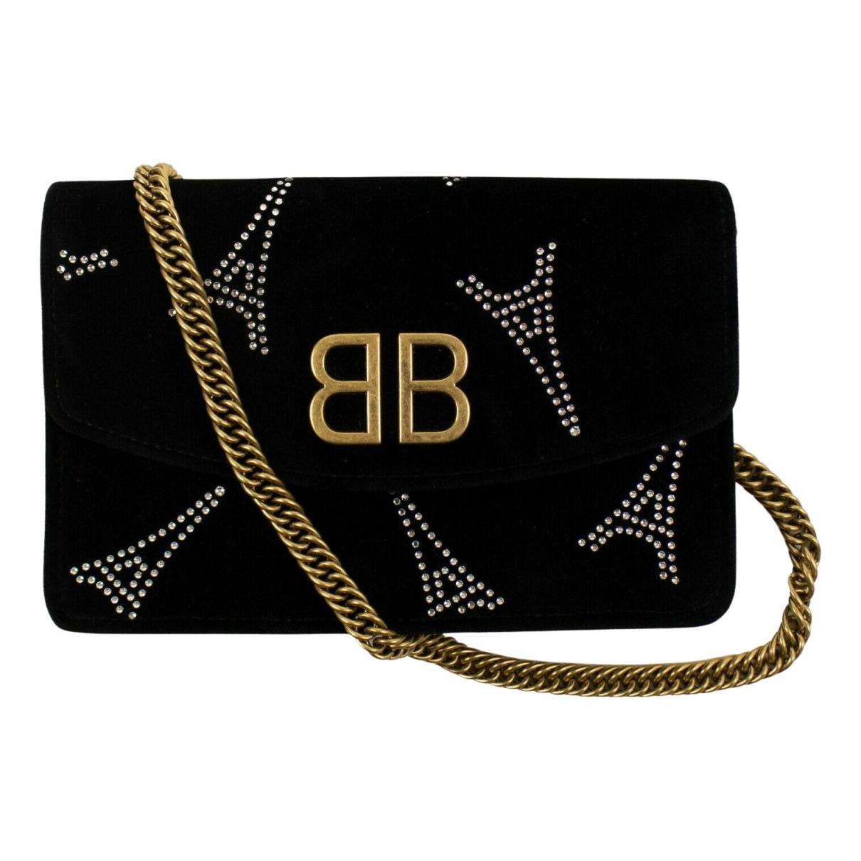 Balenciaga BB chain Handtasche in  Schwarz Samt