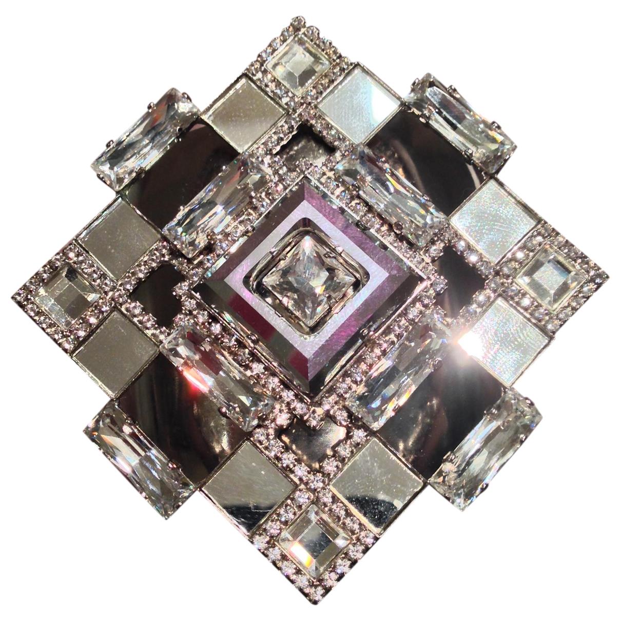 - Bracelet   pour femme en cristal - argente