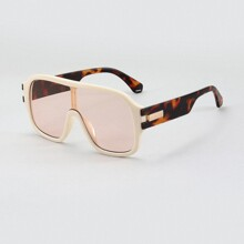 Men Flat Top Shield Sunglasses