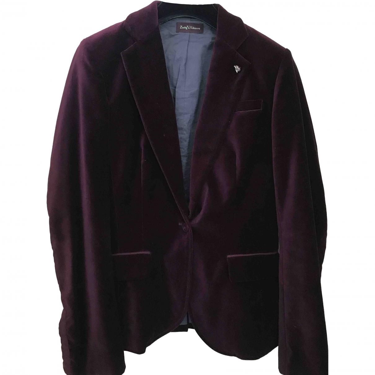 Zadig & Voltaire \N Burgundy Velvet jacket for Women 38 FR