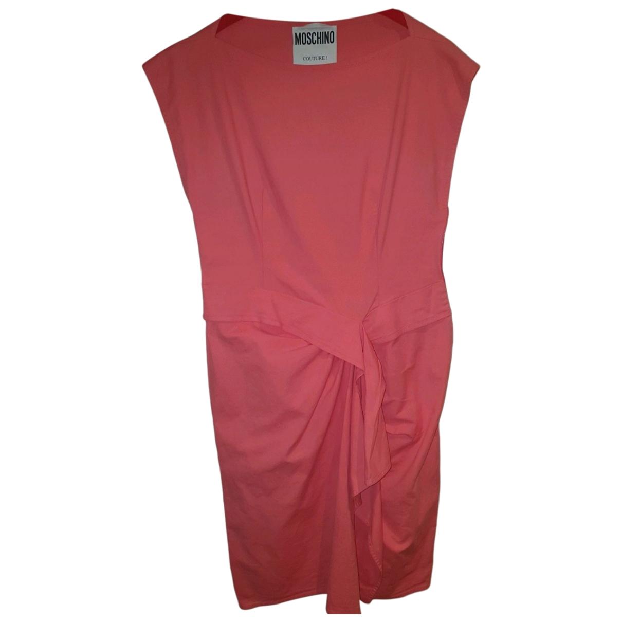 Moschino - Robe   pour femme en coton - elasthane - rose