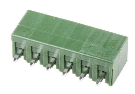 RS PRO , 6 Way, 1 Row, Straight PCB Header (5)