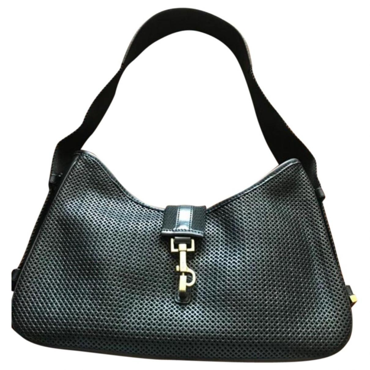 Gucci Jackie Vintage  Handtasche in  Schwarz Leder