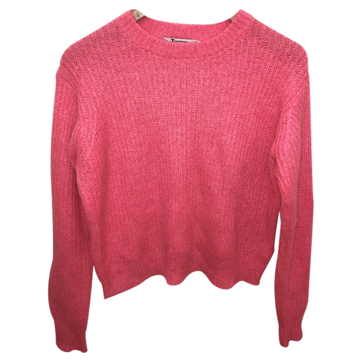T By Alexander Wang - Pull   pour femme en laine - rose