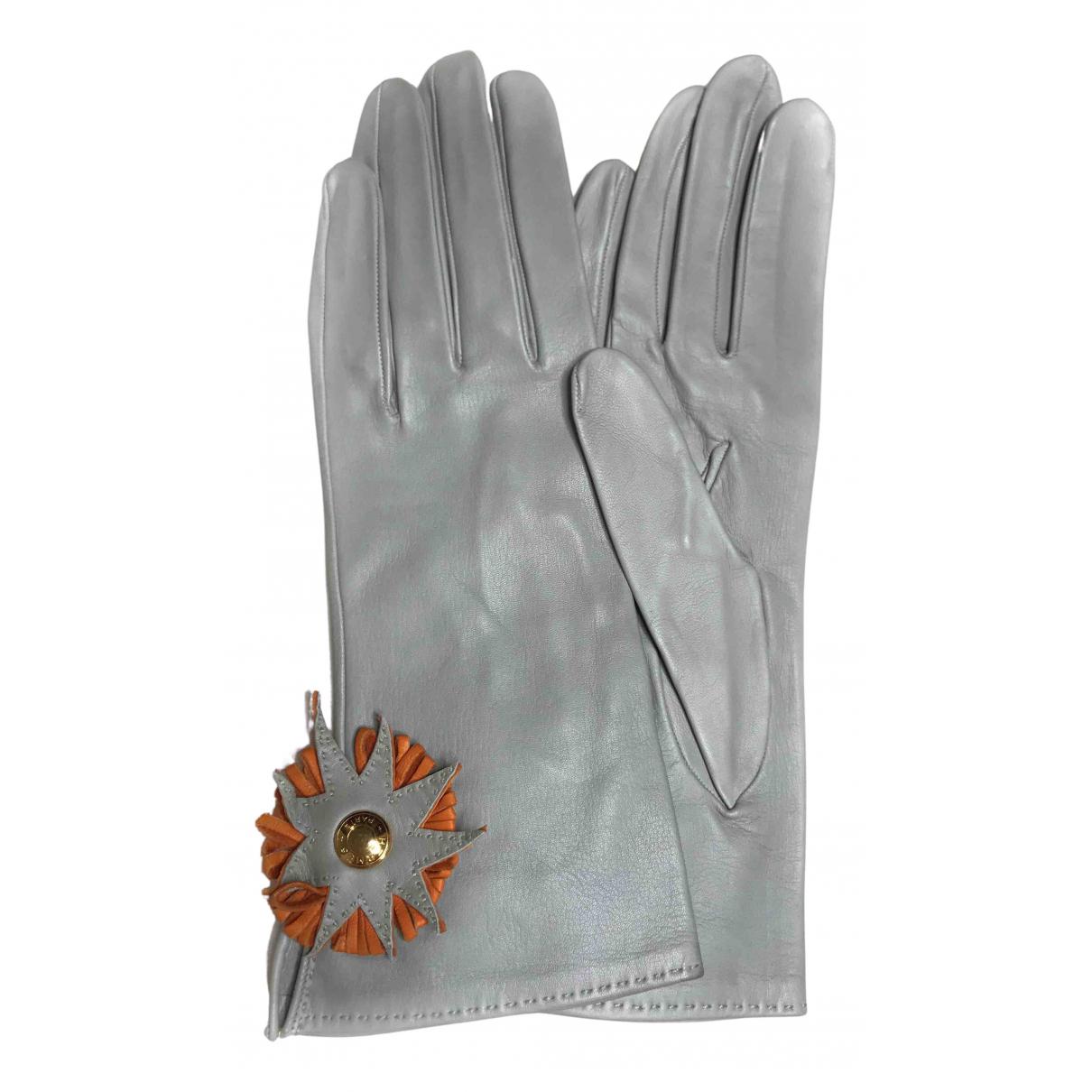 Hermes \N Handschuhe in  Blau Leder