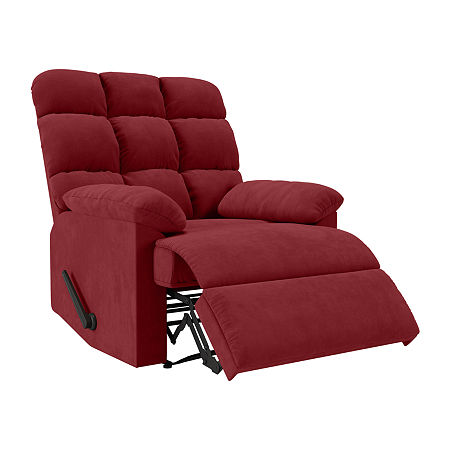 Barbera Wall Hugger Recliner, One Size , Red
