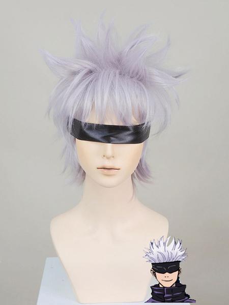 Milanoo Jujutsu Kaisen Sorcery Fight Satoru Gojo Wig Cosplay Costume Halloween