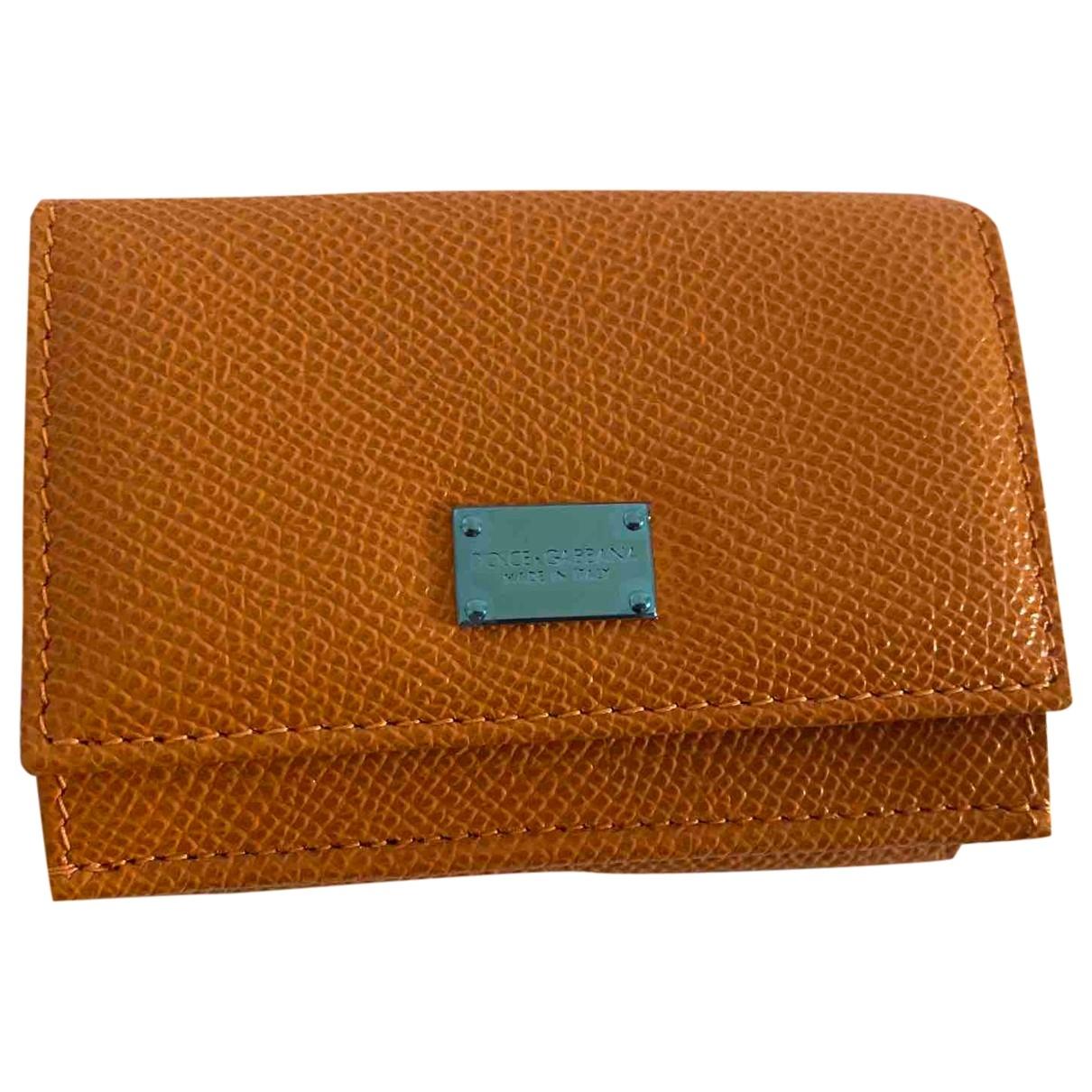 Dolce & Gabbana - Portefeuille   pour femme en cuir - orange