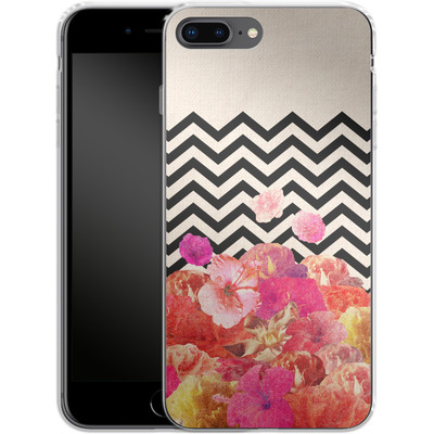 Apple iPhone 8 Plus Silikon Handyhuelle - Chevron Flora II von Bianca Green