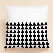 Triangle Print Cushion Cover Without Filler