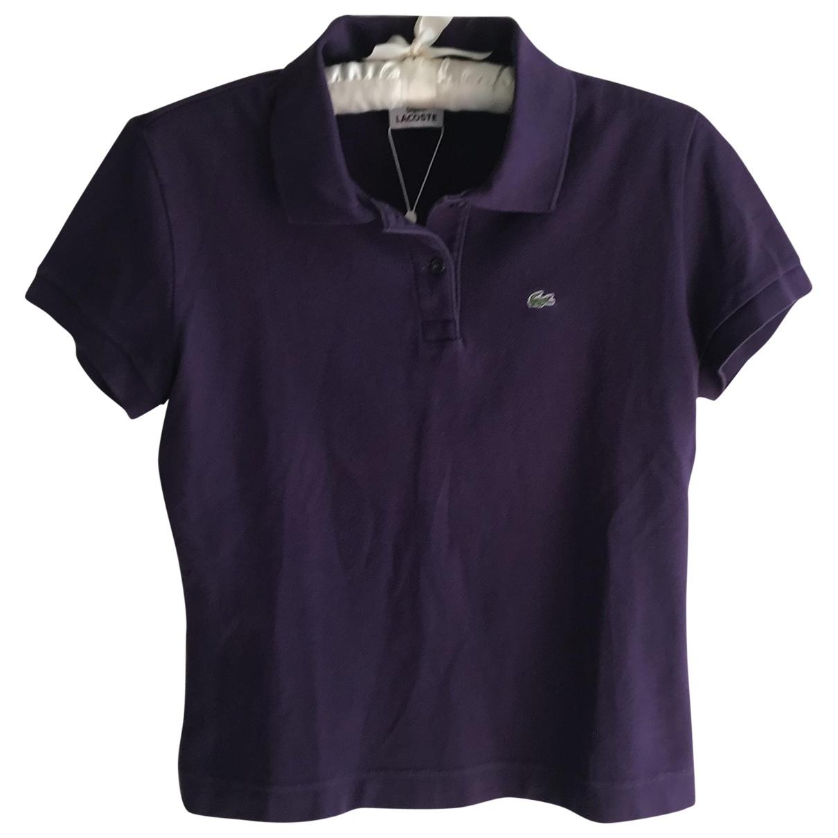 Lacoste - Top   pour femme en coton - violet