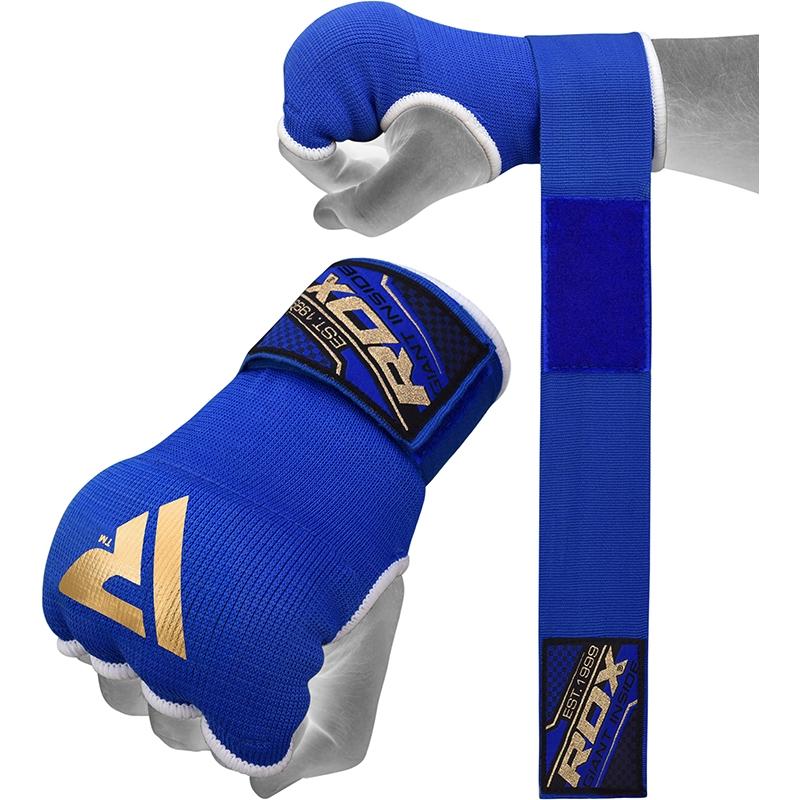 RDX IS 75cm Gel Sous Gants avec Sangle de Poignet Moyenne  Bleu Bonneterie
