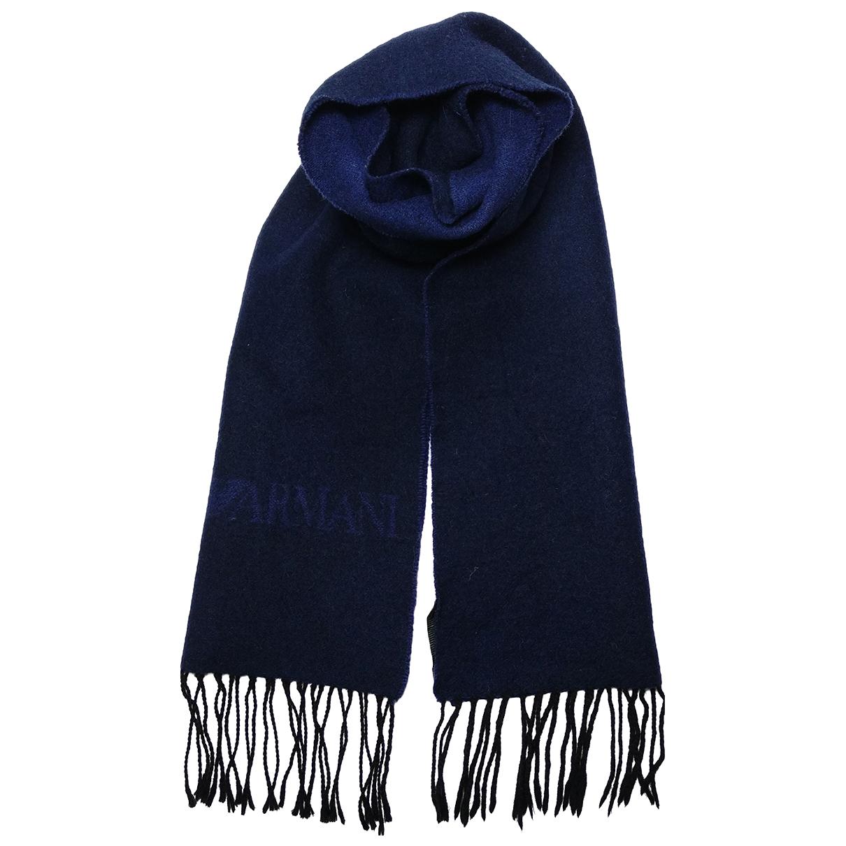 Emporio Armani - Foulard   pour femme en laine - bleu
