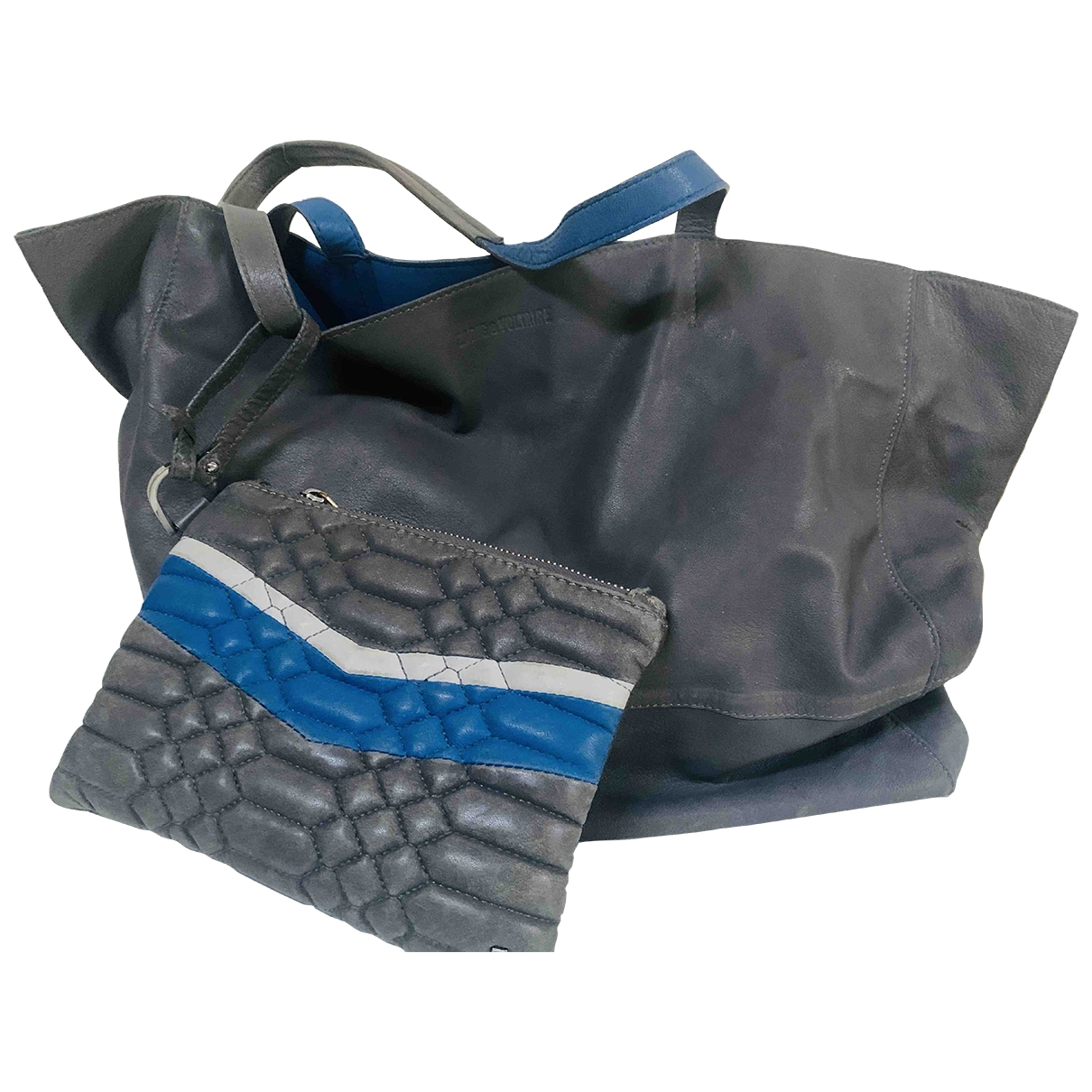 Zadig & Voltaire \N Handtasche in  Grau Leder