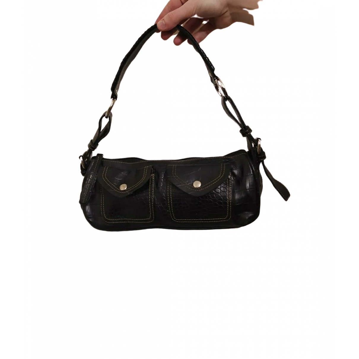 Non Signé / Unsigned \N Black Patent leather handbag for Women \N