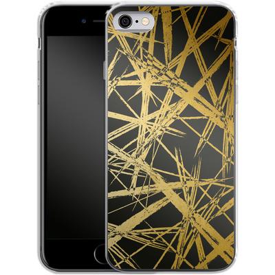 Apple iPhone 6 Silikon Handyhuelle - Strokes Gold Black von Khristian Howell