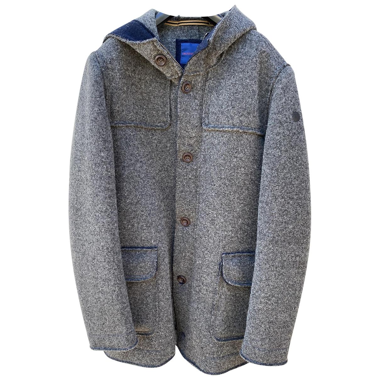 Trussardi Jean - Vestes.Blousons   pour homme en laine - gris