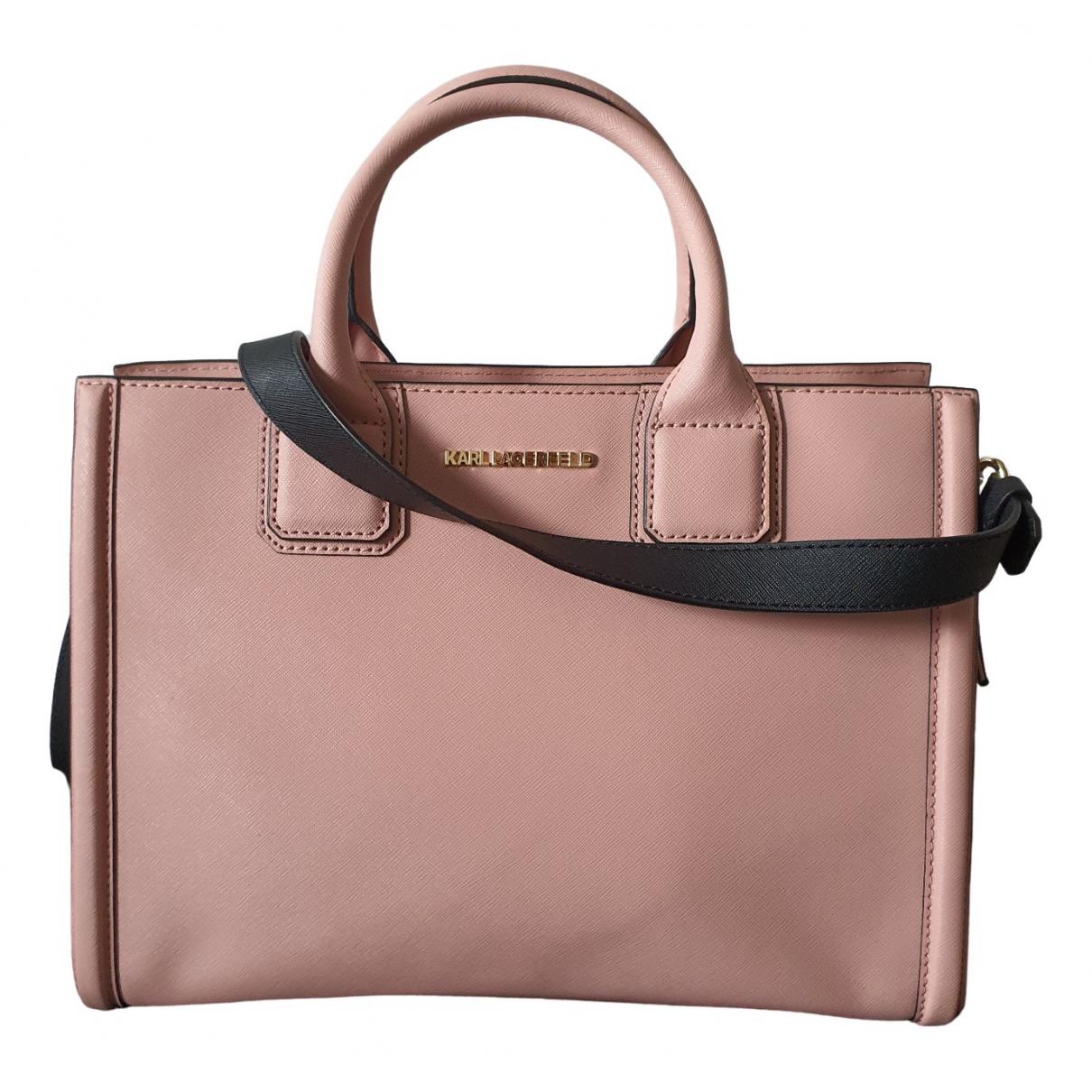 Karl Lagerfeld \N Pink Leather handbag for Women \N