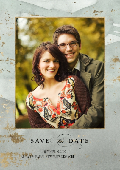 Save the Date 5x7 Cards, Premium Cardstock 120lb, Card & Stationery -Wedding Save the Date Watercolor Wash by Tumbalina