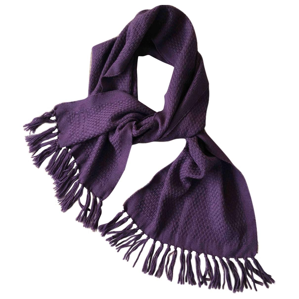 Etro \N Purple Wool scarf for Women \N