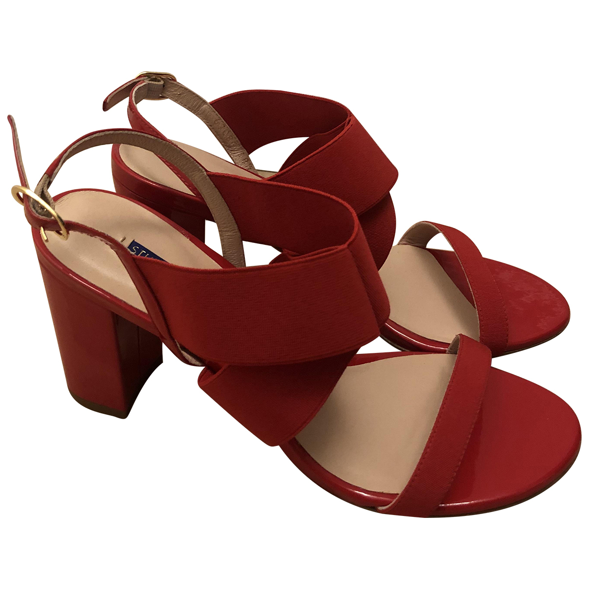 Stuart Weitzman N Red Patent leather Sandals for Women 38.5 EU