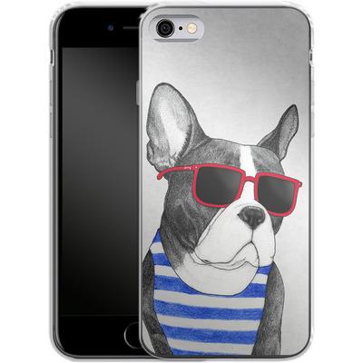 Apple iPhone 6s Silikon Handyhuelle - Frenchie Summer Style von Barruf