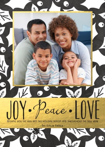 Holiday Photo Cards 5x7 Folded Cards, Premium Cardstock 120lb, Card & Stationery -Bold in Gold