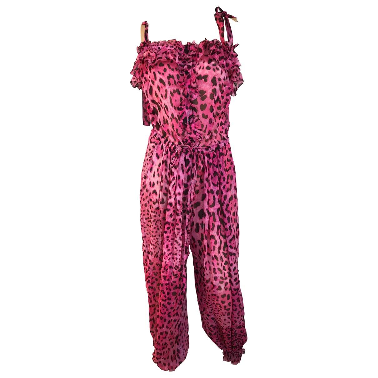 Dolce & Gabbana - Combinaison   pour femme en soie - rose