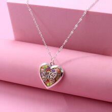 Kleinkind Maedchen Halskette mit Herzen Anhaenger