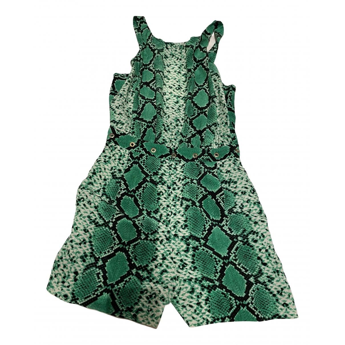 Sandro - Combinaison   pour femme en soie - vert