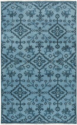 Cappadocia CPP-5013 2' x 3' Rectangle Traditional Rug in Denim  Navy  Black