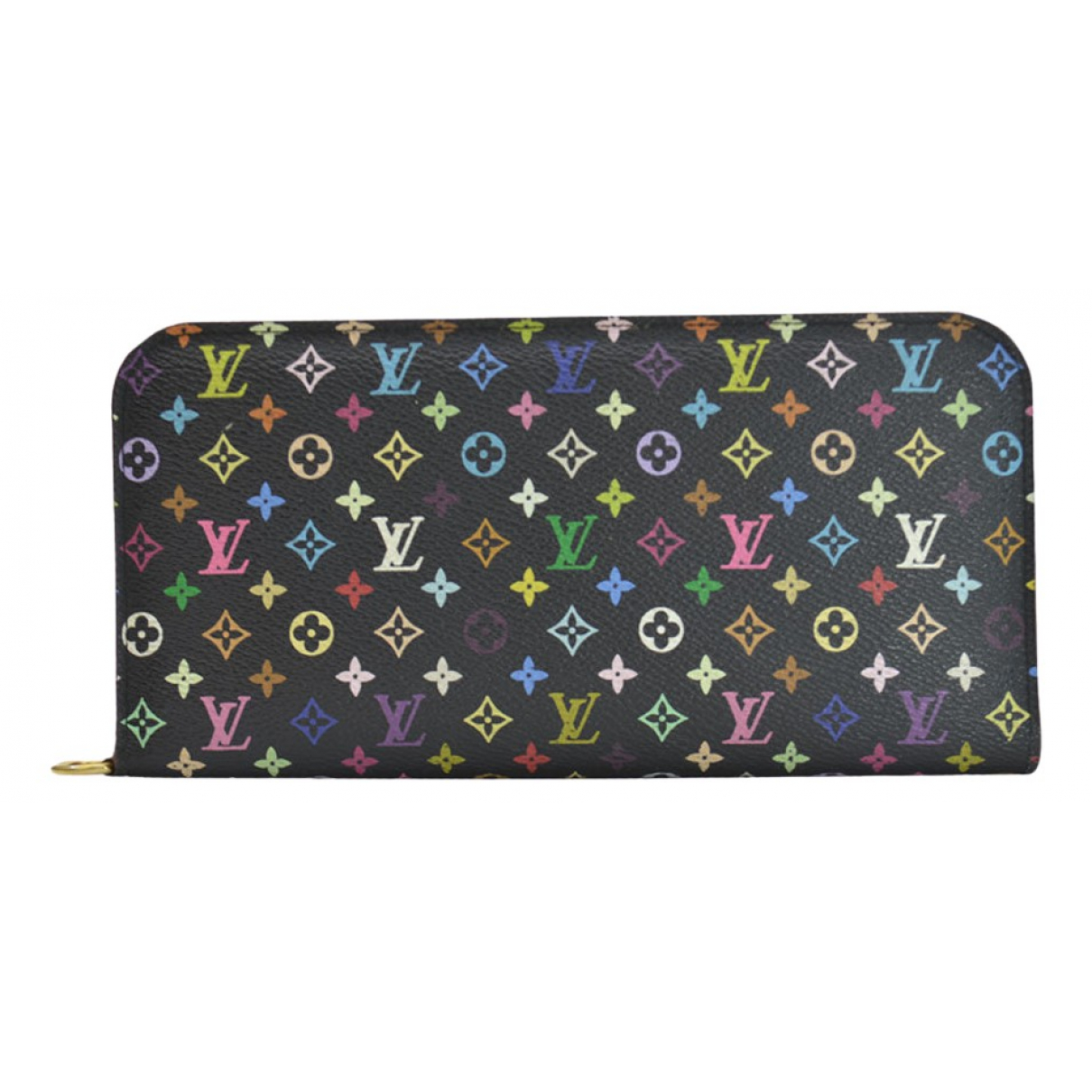 Louis Vuitton \N Portemonnaie in  Schwarz Leinen