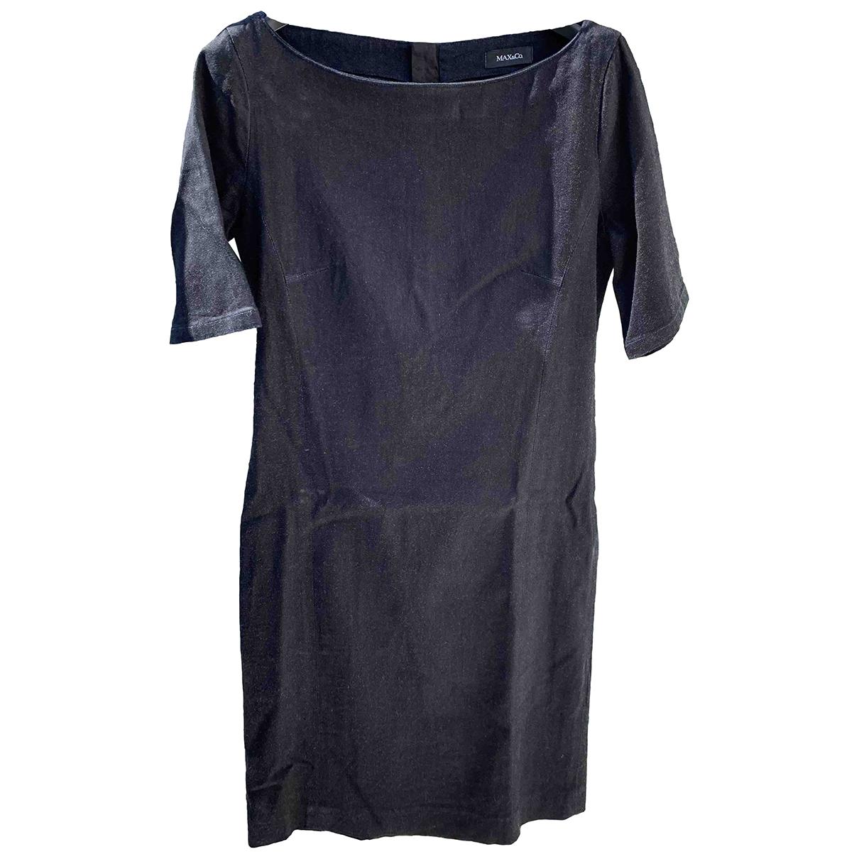 Max & Co \N Blue Cotton - elasthane dress for Women 42 IT