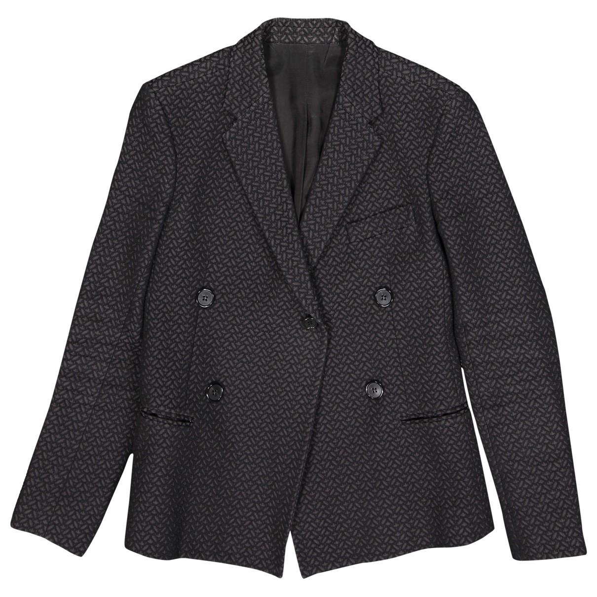Celine \N Black Cotton jacket for Women 38 FR