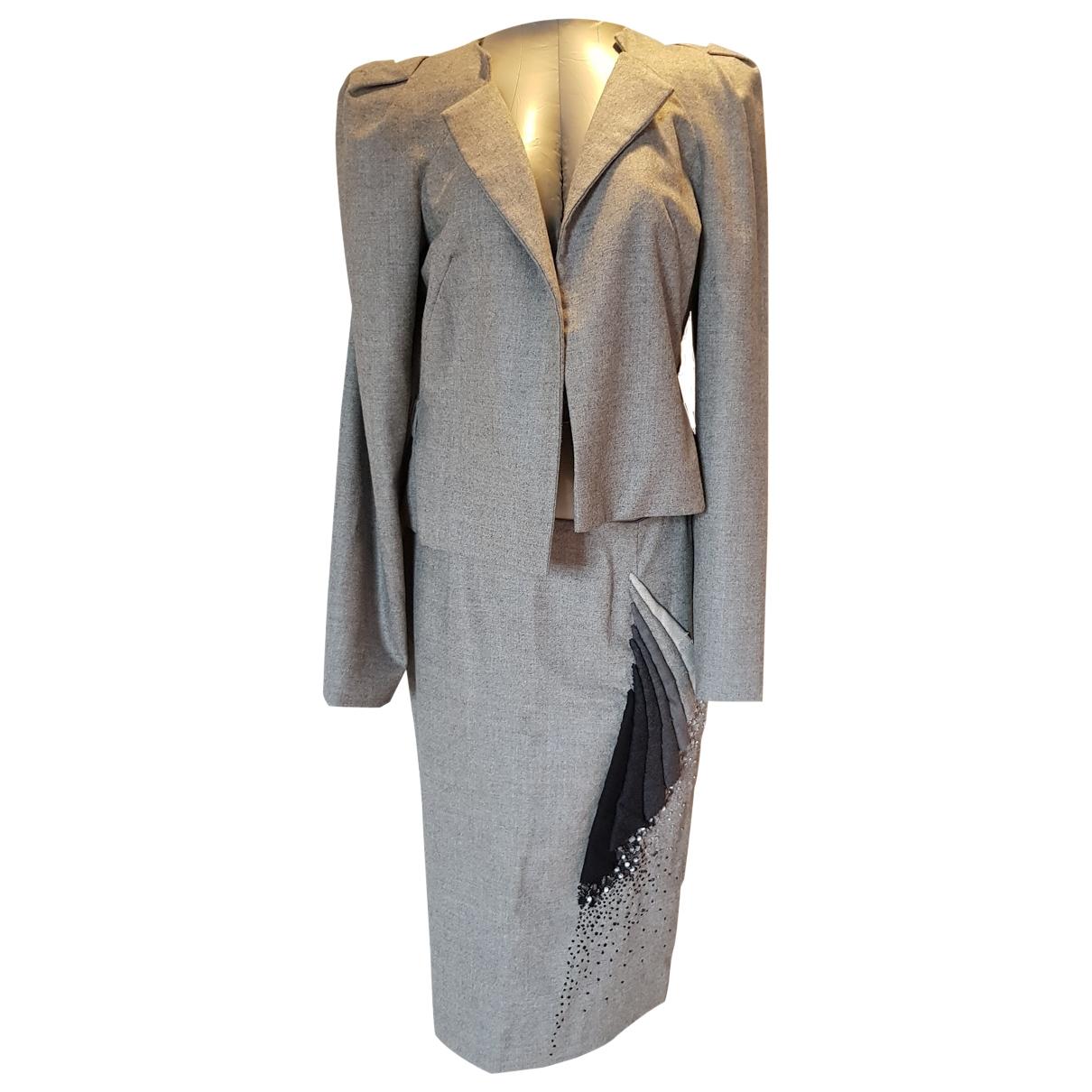 Carolina Herrera \N Grey Wool jacket for Women 8 US