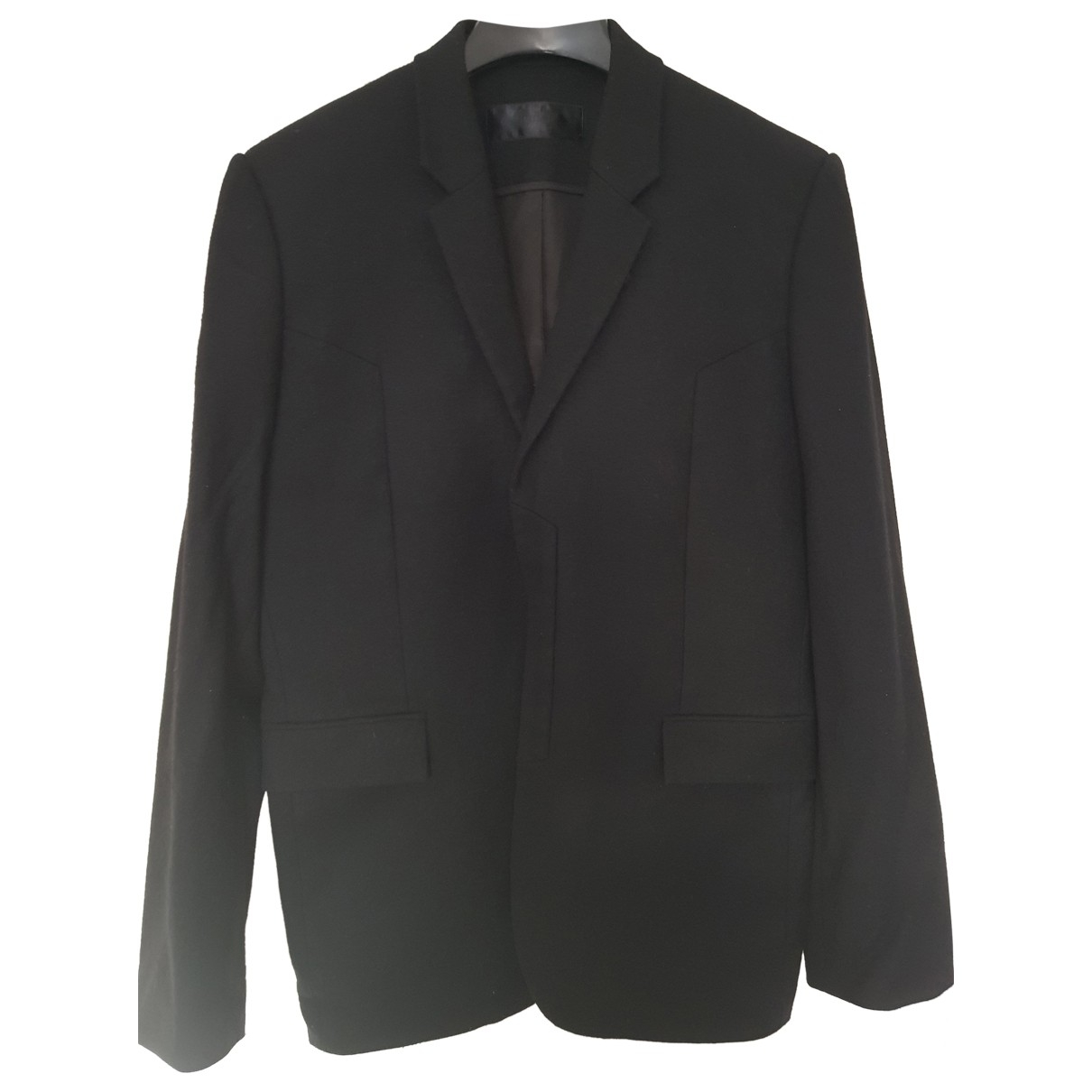 Juunj - Vestes.Blousons   pour homme en laine - noir