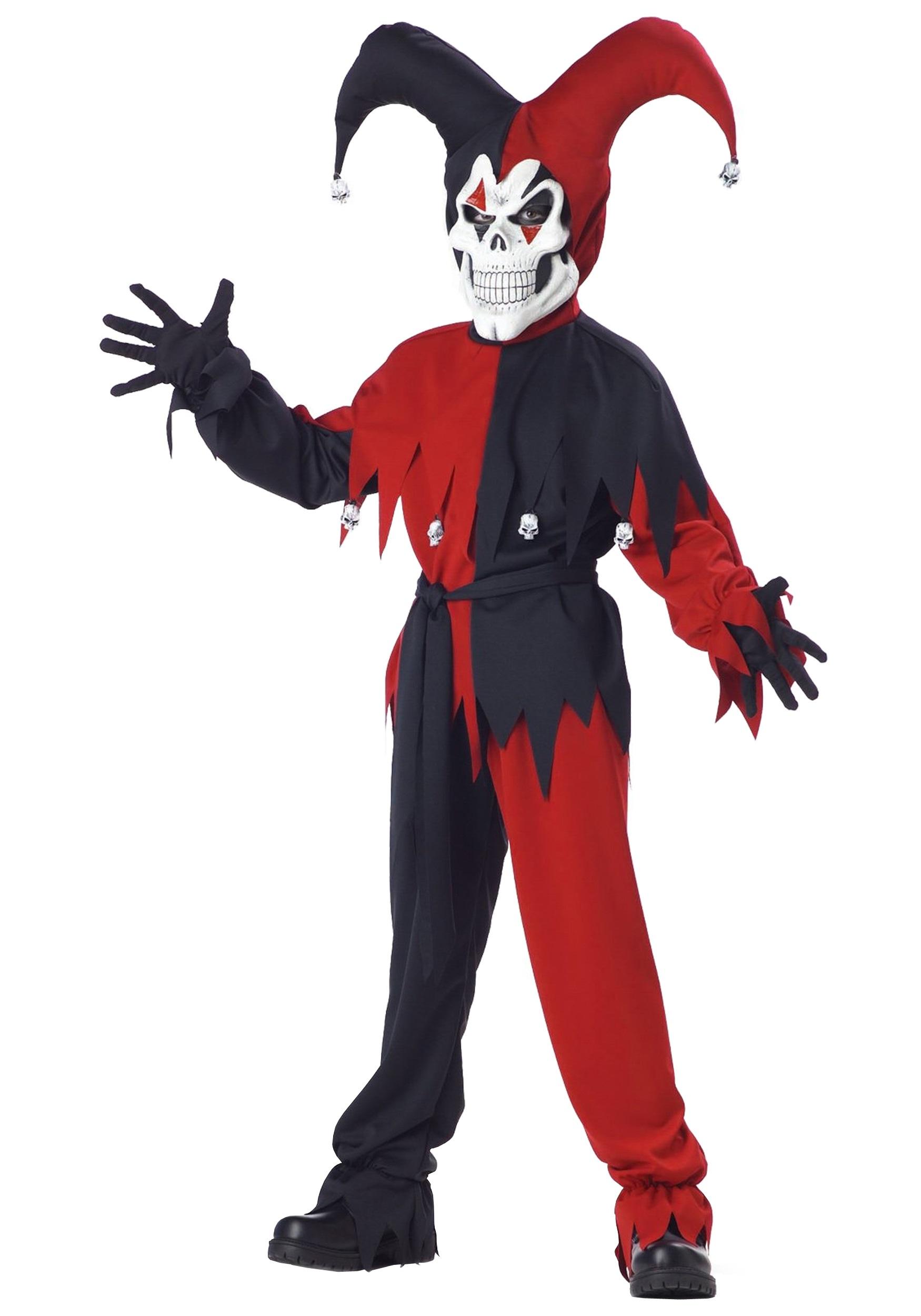 Evil Jester Costume for Kids